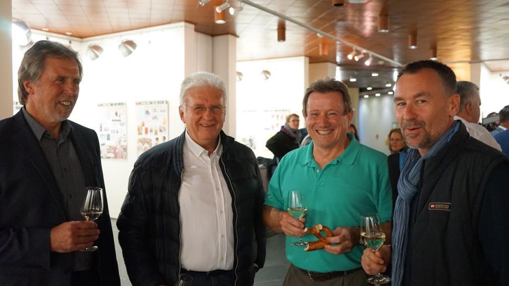 Fachsimpeln mit Guido Kratchmer, Herbert Czingon, Francis Gross und Michael Kaul (v.l.).